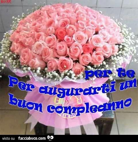 Mazzo Di Fiori Rosa Per Te Per Augurarti Un Buon Compleanno